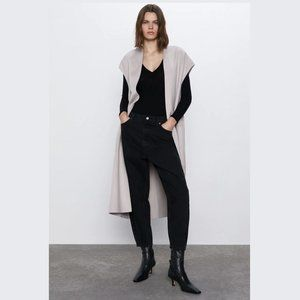 ZARA Wool Blend Belted Vest